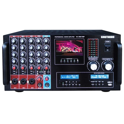 SINGTRONIC KA-3500DPS PROFESSIONAL DIGITAL CONSOLE 3000W DSP MIXING AMPLIFIER KARAOKE WITH BUILT IN 3.5 LCD SCREEN MONITOR - MODEL 2020