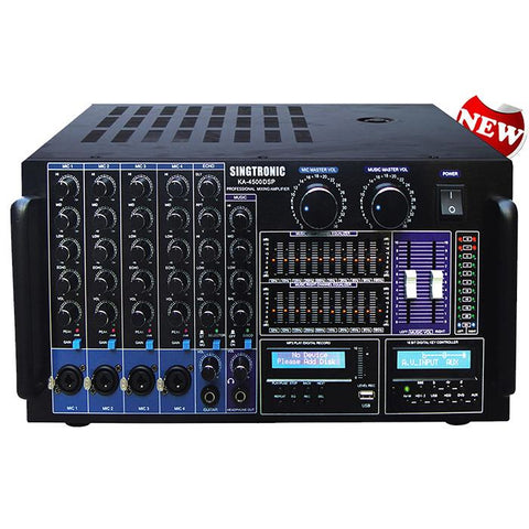 ( OPEN BOX - LIKE NEW ) SINGTRONIC KA-4500DSP PROFESSIONAL DIGITAL CONSOLE DSP MIXING AMPLIFIER W-EQUILIZER & RECORDING ( MODEL 2021 )