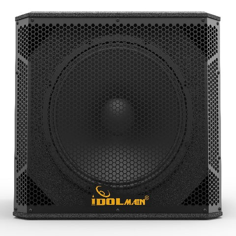 IDOLmain SUB06 15-Inch 1500 Watts Deep Bass Powered Subwoofer With All Wood Cabinets And 14-gauge Grilles NEW 2020