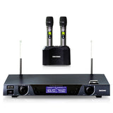 Singtronic UHF-2500 Professional Digital Dual Rechargeable Wireless Microphone Karaoke System Built in Lithium Battery