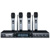 UHF-3500 PROFESSIONAL QUAD UHF CHANNELS WIRELESS PLL MICROPHONE SYSTEM