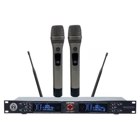 Singtronic UHF-550Pro Professonal Dual UHF 800MHz Wireless Microphone Karaok System Model: 2020 Best Seller Highly Recommended