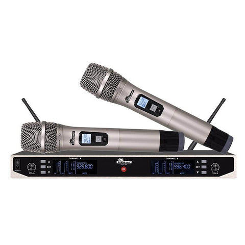 IDOL UHF-305 Professional Dual Wireless Microphone System With Long Distance Operation And Free Interference NEW 2021