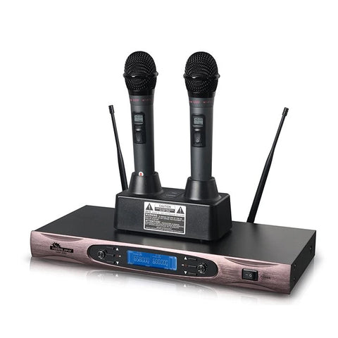 UHF-330 Dual Rechargeable Professional Wireless Microphones NEW 2020