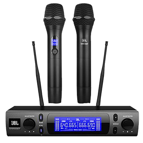 JBL VM-300 Professional Dual Wireless Microphone Karaoke System for KTV Applications Built in CPU Controlled Selection & Pilot Tone Detection