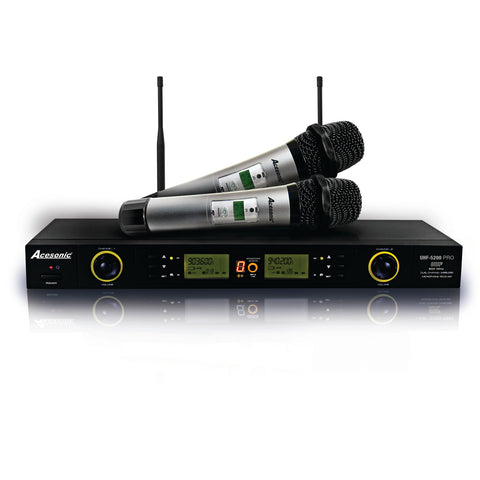 Acesonic UHF-5200 PRO 900MHz Digital Wireless Microphone SystemAcesonic UHF-5200 PRO 900MHz Digital Wireless Microphone System 100 Channels