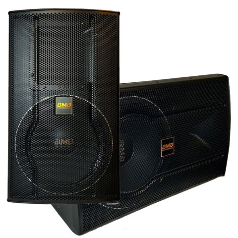 "BMB JAPAN CSS-2010 - MODEL 2020- TOTAL 2400 WATTS - 10"" Professional Speakers ( PAIR ) - FREE STANDS, SPEAKON WIRES"