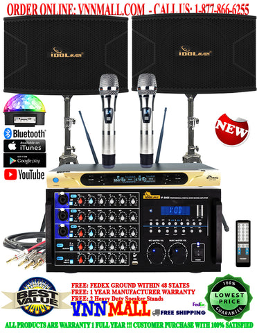 KARAOKE SYSTEM 19 - 2000 WATTS - KA-2000DSP - IDOLPRO UHF 626 - IPS-20 12-inch 3-Way - BUILT-IN HDMI, OPTICAL - MODEL: 2021