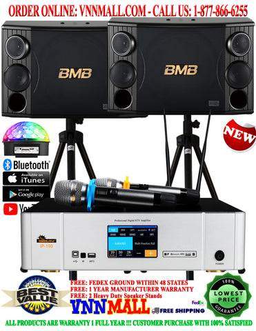 KARAOKE SYSTEM 39 - NEWEST MODEL: 2021 - 2400 WATTS - BMB CSD-2000 & IDOlpro IP-100 Touch Screen Monitor Professional Digital Amplifier