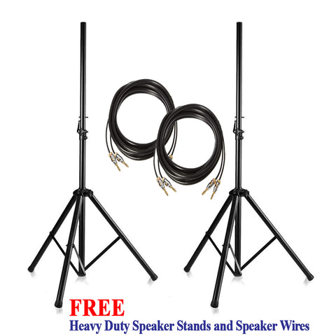IDOlmain IPS-20 12-inch 3-Way - 3000 Watts - High Output Full Range Loudspeakers w/ FREE Stands, Wires - NEW 2021 ( PAIR )