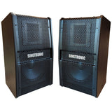"Singtronic KS-1500Pro Professional 1500W + 1500W Vocalist Karaoke Speaker System (Pair) Newest: 2021 Built in Compressor & 12"" Woofer"