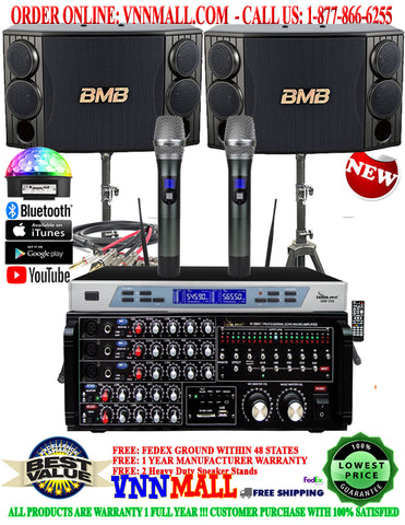 KARAOKE SYSTEM 36 - NEWEST MODEL: 2020 - 1300 WATTS - BMB CSD-880 - IP-3800 II 1300W Professional Digital Echo Mixing Amplifier With Optical Input