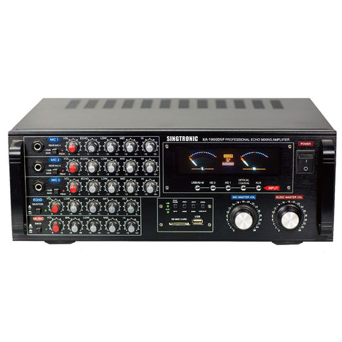 Singtronic KA-1000DSP Professional 1700W DSP Mixing Amplifier Karaoke Built in Optical, HDMI, Bluetooth & Voice Record Model: 2021