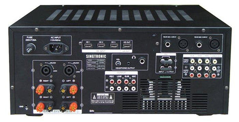 SINGTRONIC KA-2500DSP PROFESSIONAL DIGITAL CONSOLE 2600W DSP MIXING AMPLIFIER KARAOKE WITH BUILT IN 3.5 LCD SCREEN MONITOR - MODEL 2021