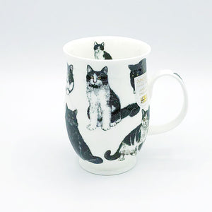 dunnoon tuxedo cats fine bone china mug at lambertville trading company