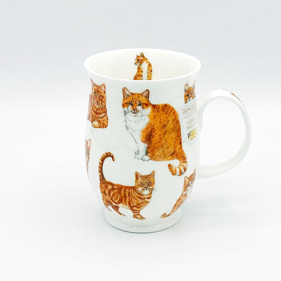dunnoon ginger cats fine bone china mug at lambertville trading company