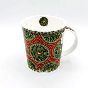 dunnoon masai fine bone china mug with 22 carat gold at lambertville trading company