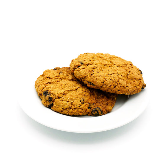 Oatmeal Raisin Walnut Cookie on a plate at Lambertville Trading Company