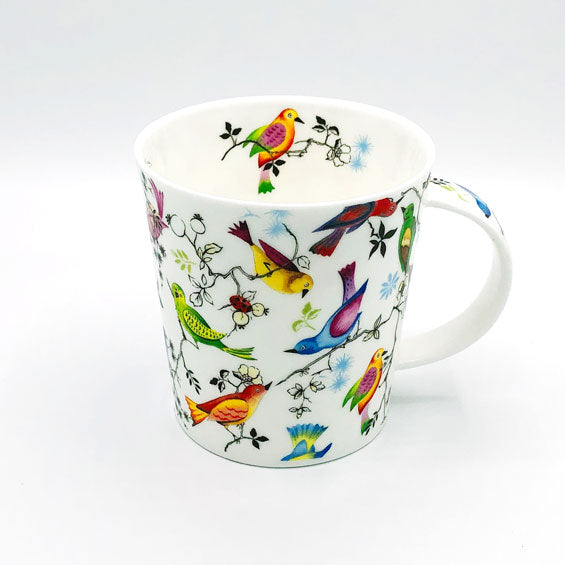 dunnoon paradise bird fine bone china mug at lambertville trading company