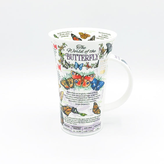 dunnoon world of butterfly fine bone china mug at lambertville trading company