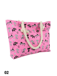 Sac fourre-tout - Chats roses
