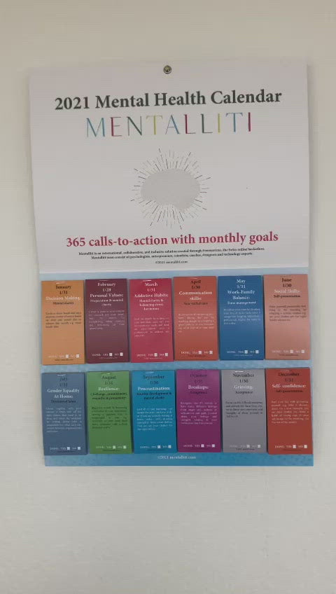 2021 Mental Health Calendar with 365 advice