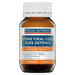 Ethical Nutrients Immuzorb Lysine Viral Cold Sore Defence 30 Tablets