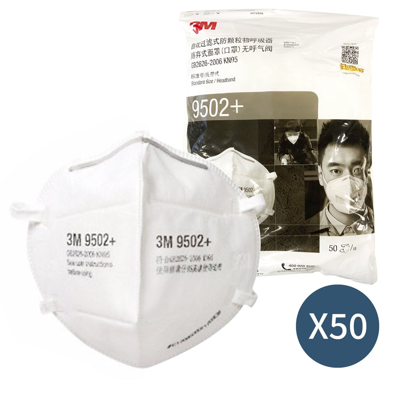 3M 9502+ KN95 Particulate Respirator Mask 50 Pack - Vital Pharmacy Supplies