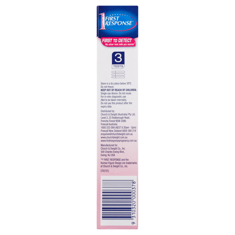 First Response Instream Pregnancy Test 3 Pack