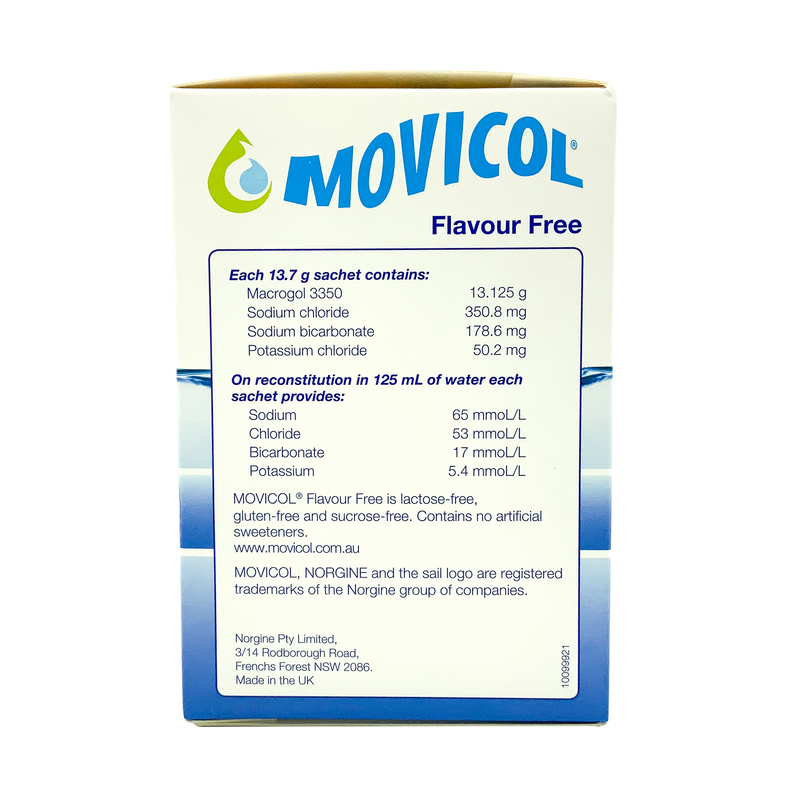 Movicol Flavour Free Sachets for Adults 30s