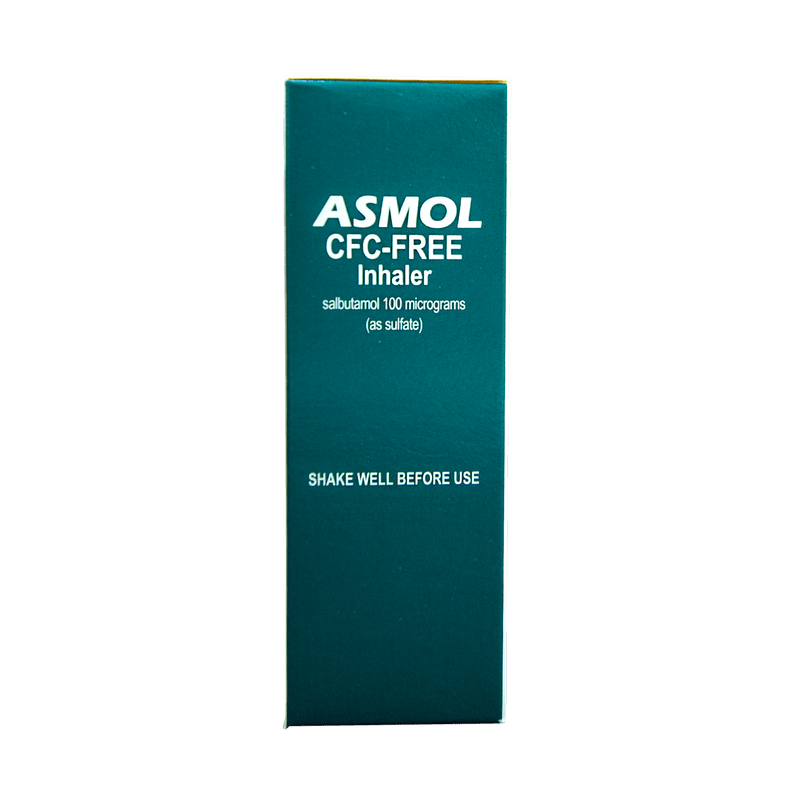 Asmol CFC Free Asthma Inhaler (S3) - Vital Pharmacy Supplies