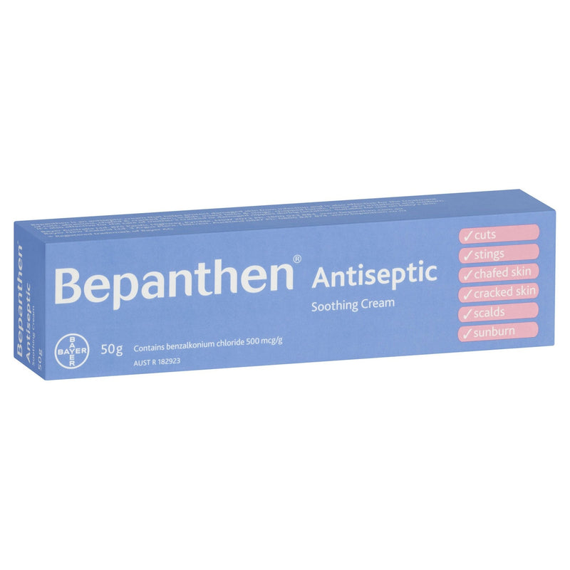 Bepanthen Antiseptic Soothing Cream 50g - Vital Pharmacy Supplies