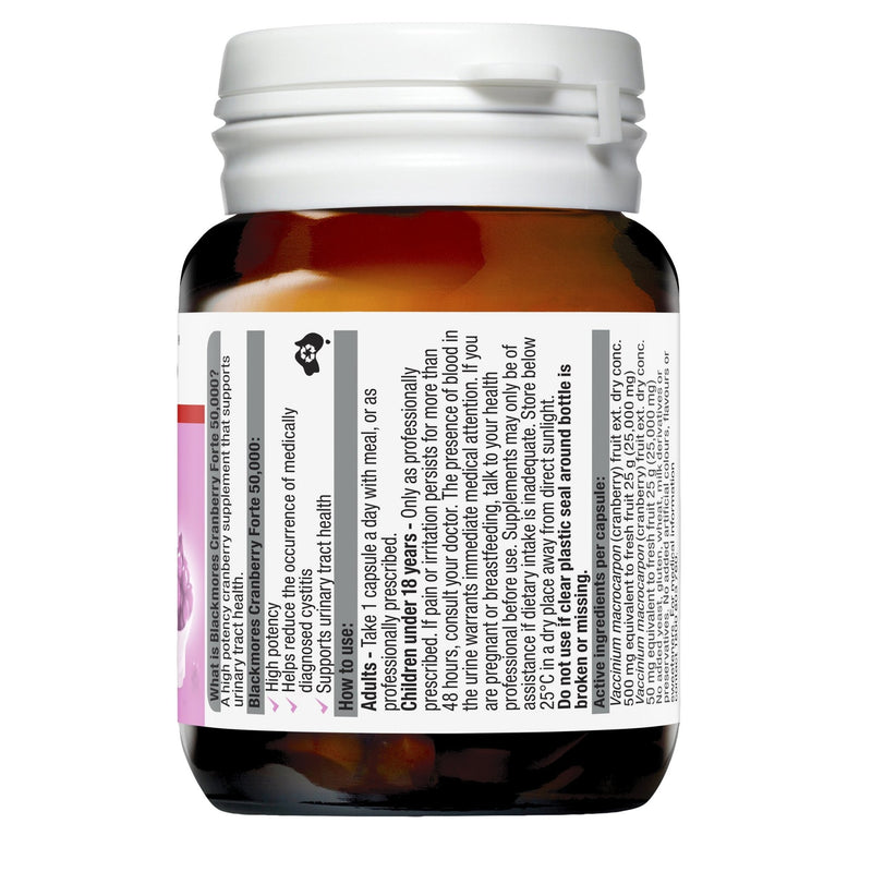 Blackmores Cranberry Forte 30 Capsules - Vital Pharmacy Supplies