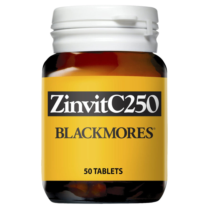 Blackmores ZinvitC250 50 Tablets - Vital Pharmacy Supplies
