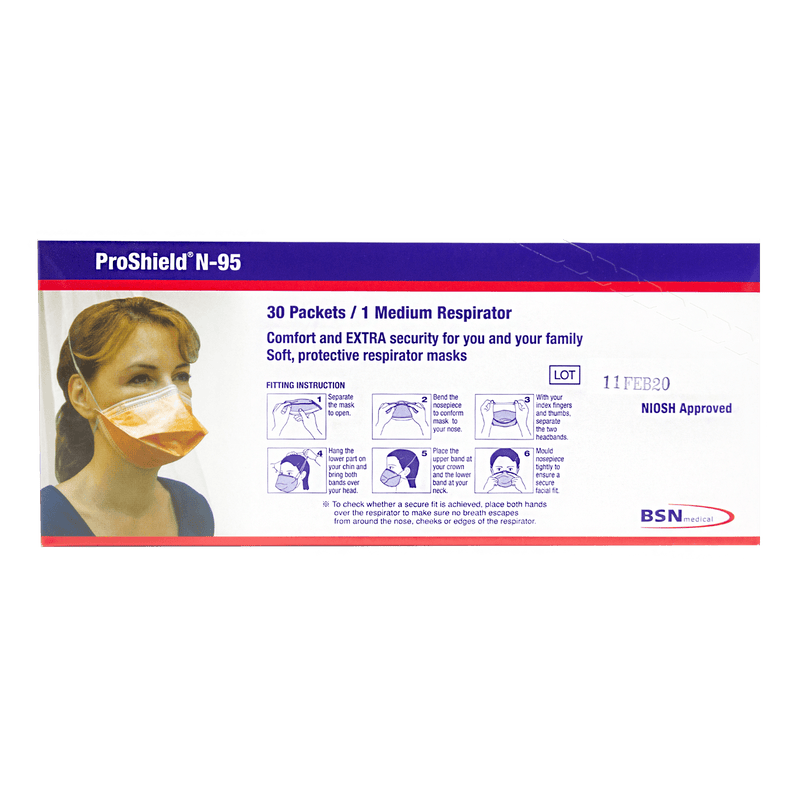 BSN Proshield N95 Respirator Masks (Singles or Box of 30) - Vital Pharmacy Supplies