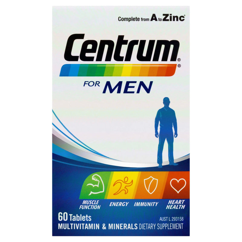 Centrum For Men Tablets 60 Tablets - Vital Pharmacy Supplies