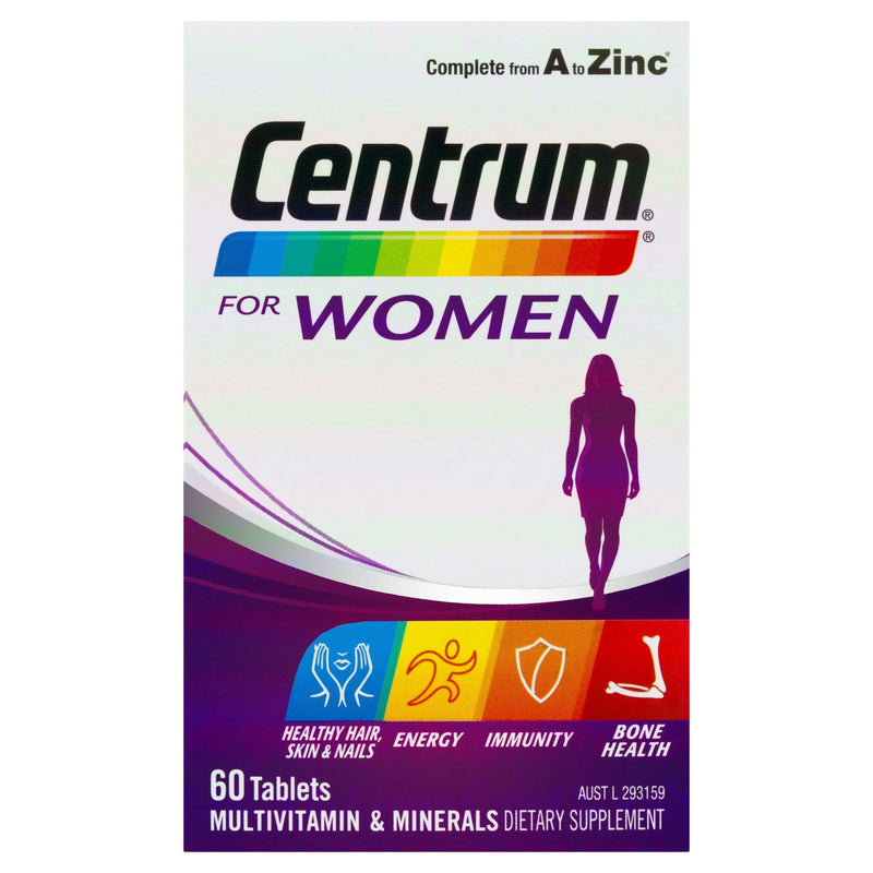 Centrum For Women Tablets 60 Tablets - Vital Pharmacy Supplies