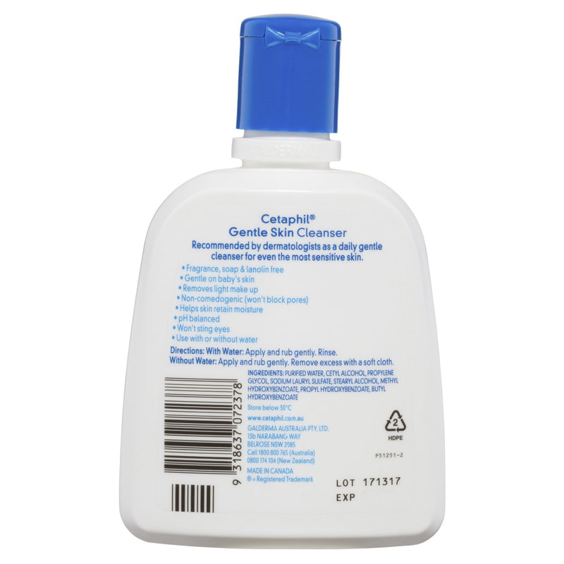 Cetaphil Gentle Skin Cleanser 250mL - Vital Pharmacy Supplies