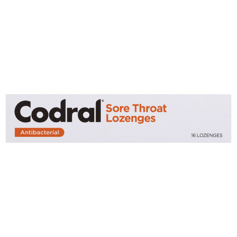 Codral Sore Throat Lozenges Antibacterial Honey & Lemon 16 Pack - Vital Pharmacy Supplies