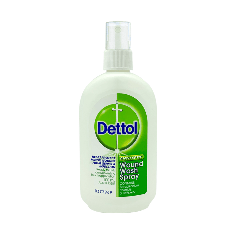 Dettol Antiseptic Wound Wash Spray 100mL - Vital Pharmacy Supplies