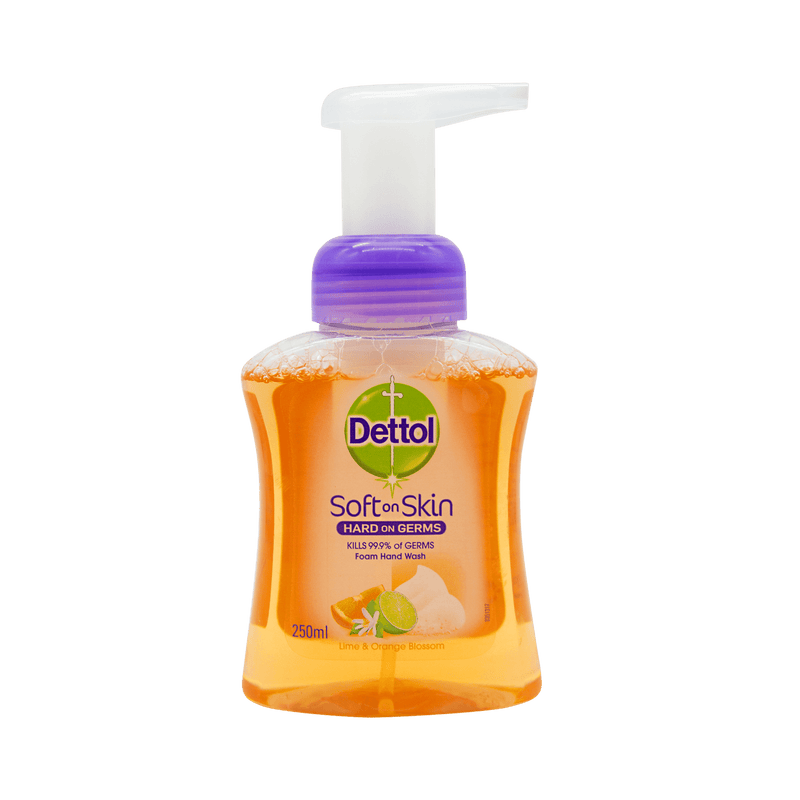 Dettol Foam Hand Wash Lime and Orange Blossom 250mL - Vital Pharmacy Supplies