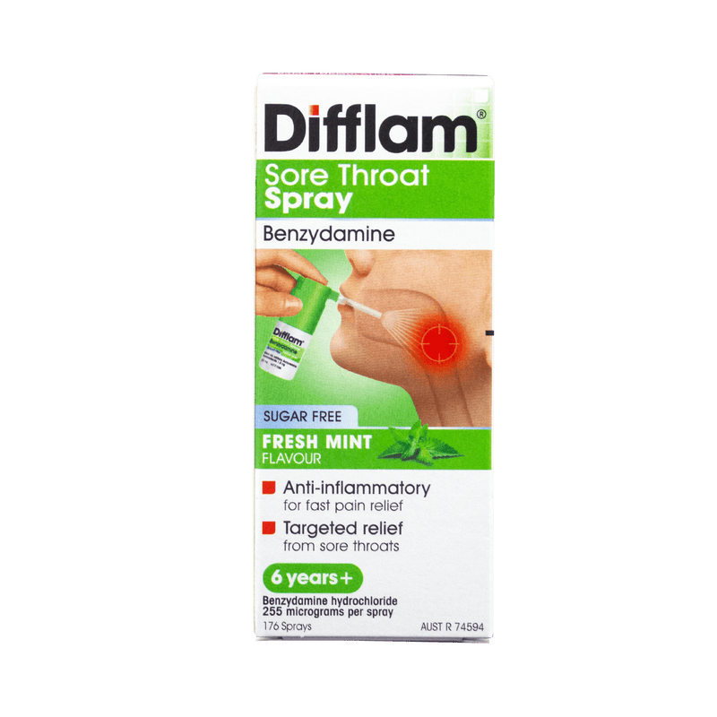 Difflam Sore Throat Mint Spray 30ML - Vital Pharmacy Supplies