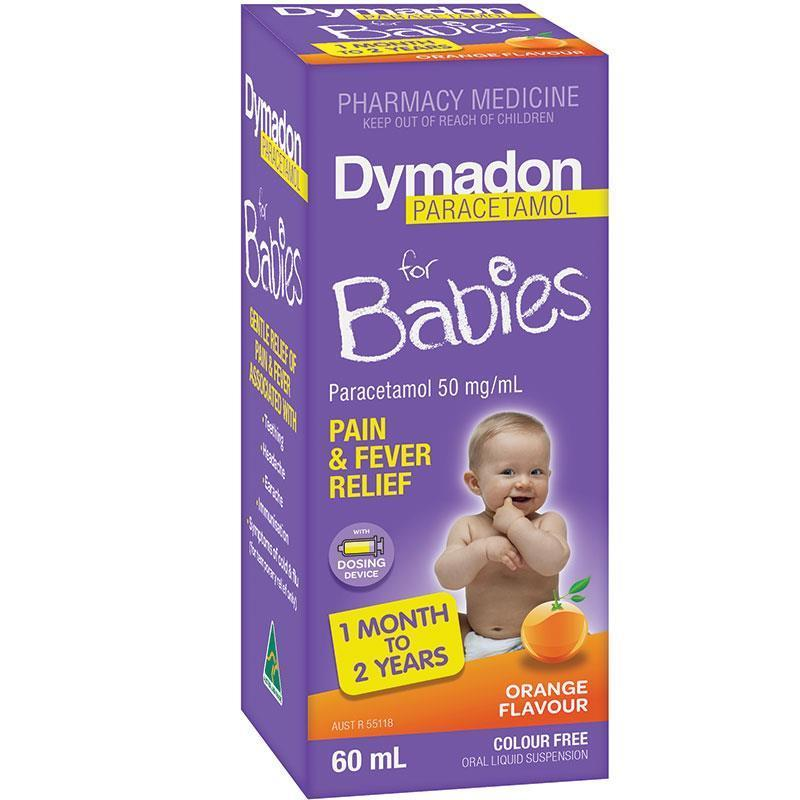 Dymadon for Babies 1 month – 2 Years Orange 60mL - Vital Pharmacy Supplies