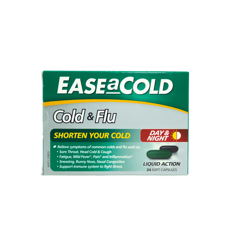 EaseACold Cold & Flu Day & Night 24 Capsules - Vital Pharmacy Supplies