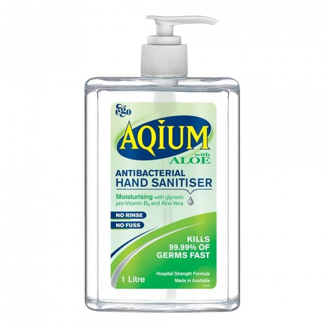 Ego Aqium Hand Sanitiser Aloe 1L - Vital Pharmacy Supplies