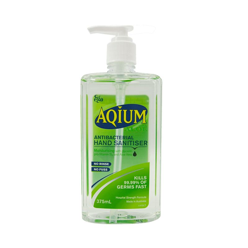 Ego Aqium Hand Sanitiser Aloe 375mL - Vital Pharmacy Supplies