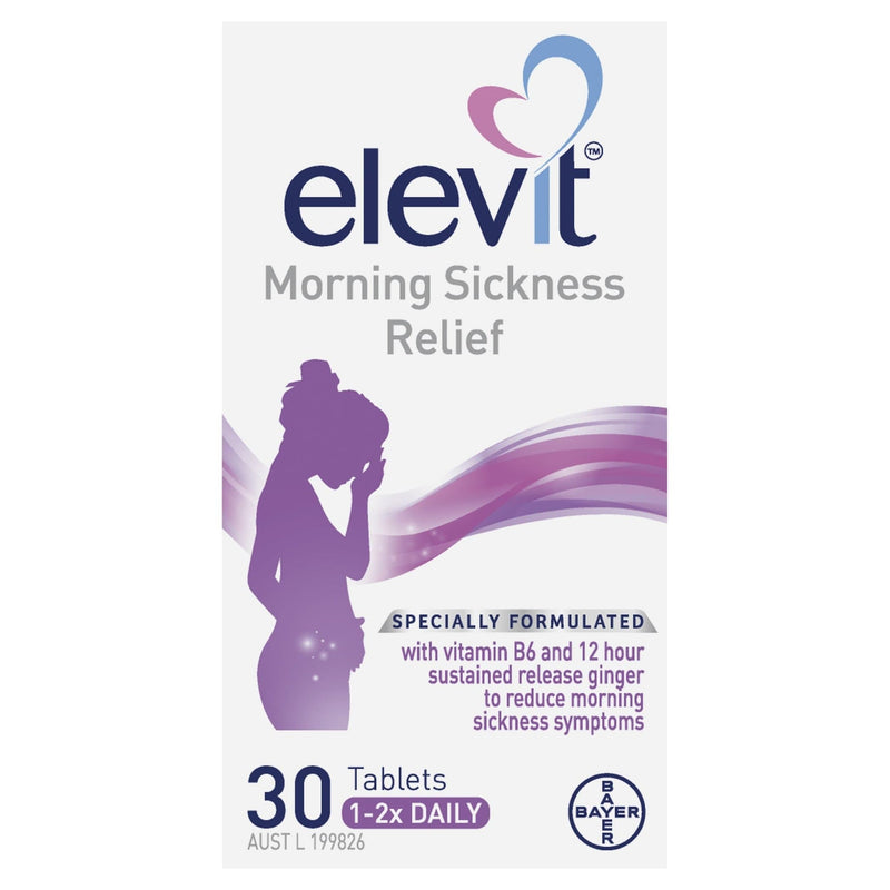 Elevit Morning Sickness Relief Tablets 30 Tablets - Vital Pharmacy Supplies
