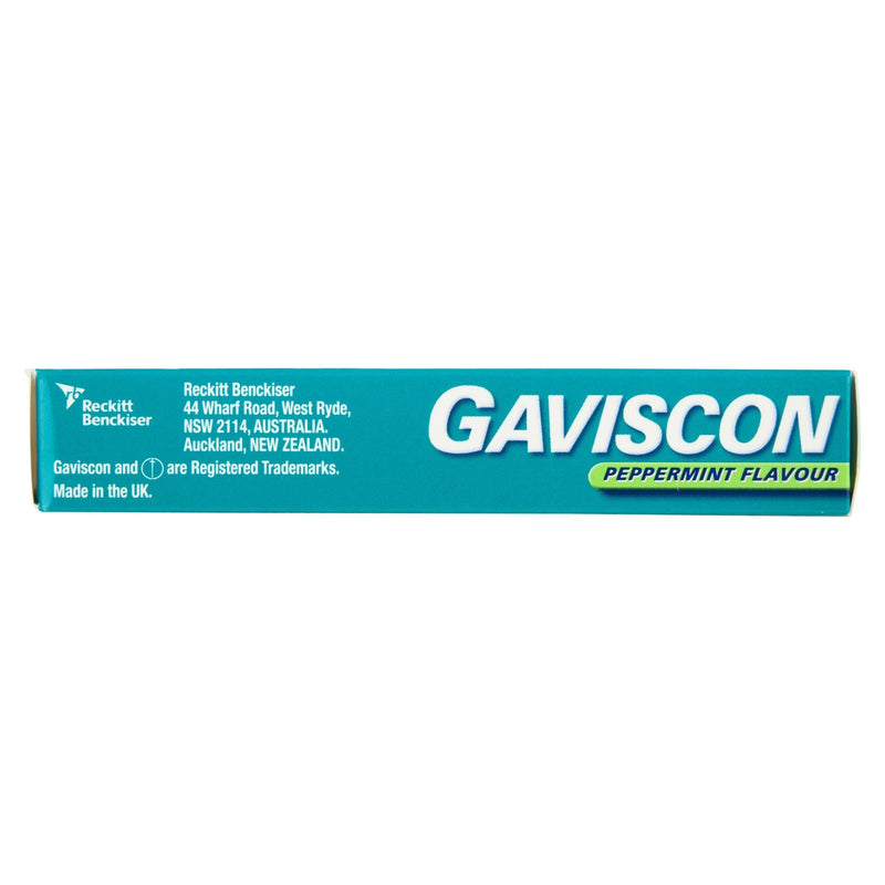 Gaviscon Chewable Tablets Peppermint Heartburn & Indigestion Relief 24 Pack - Vital Pharmacy Supplies