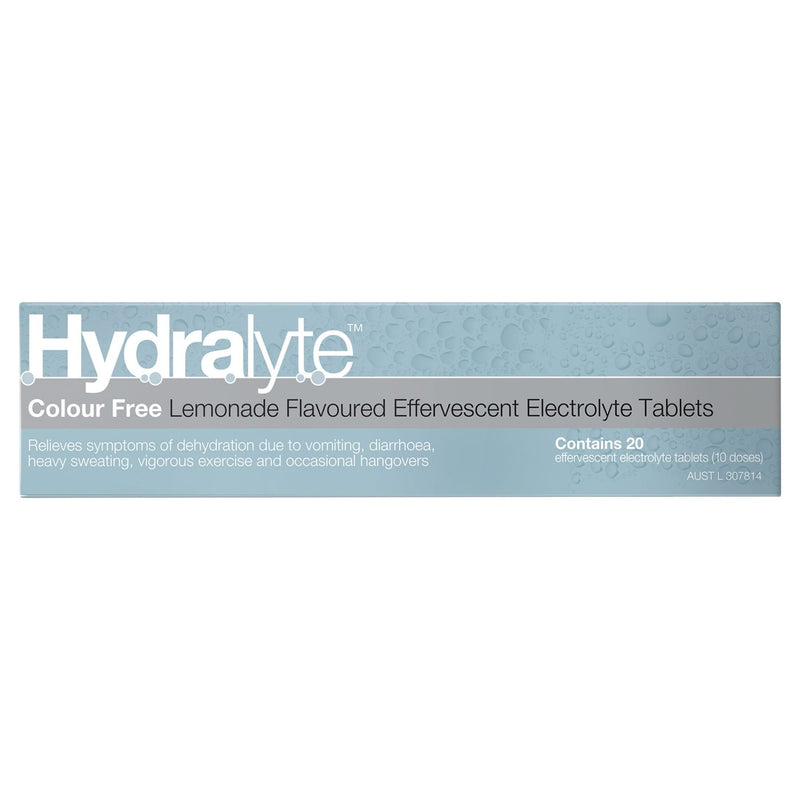 Hydralyte Lemonade Effervescent Electrolyte Tablets 20 Tablets - Vital Pharmacy Supplies