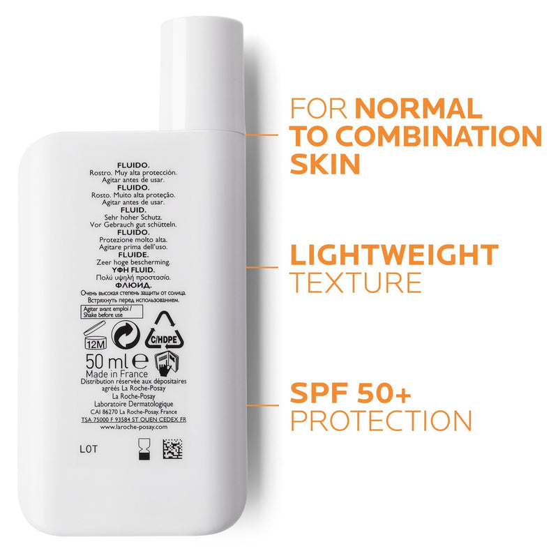 La Roche-Posay Anthelios XL Ultra-Light Fluid Facial Sunscreen SPF50+ 50mL - Vital Pharmacy Supplies